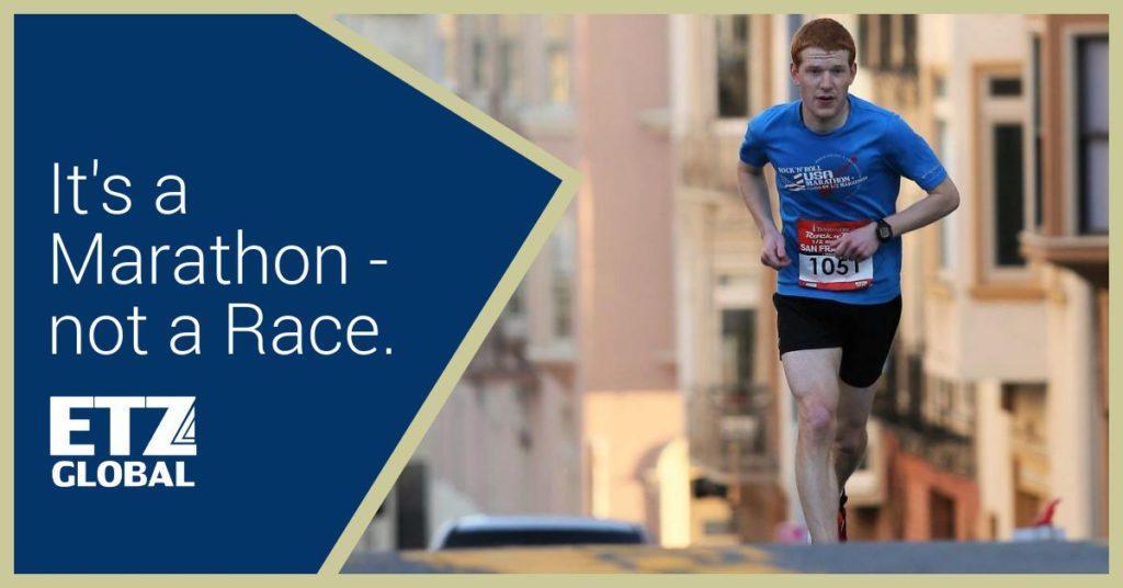 Its a marathon not a race